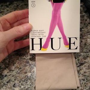 Hue tights tan, light brown tights, new, large